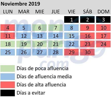 Calendario De Multitudes Disney 2019.Calendario De Afluencia En Disneyland Paris 2019 Monparigo